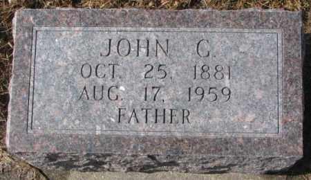 HERFKENS, JOHN G. - Cedar County, Nebraska   JOHN G. HERFKENS - Nebraska Gravestone Photos