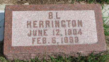 HERRINGTON, B.L. - Cedar County, Nebraska | B.L. HERRINGTON - Nebraska Gravestone Photos