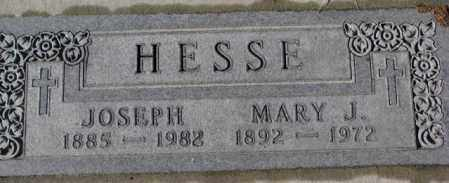 HESSE, MARY J. - Cedar County, Nebraska   MARY J. HESSE - Nebraska Gravestone Photos