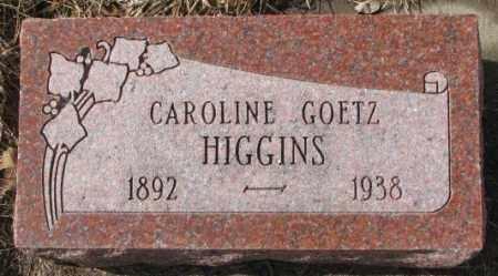 GOETZ HIGGINS, CAROLINE - Cedar County, Nebraska   CAROLINE GOETZ HIGGINS - Nebraska Gravestone Photos