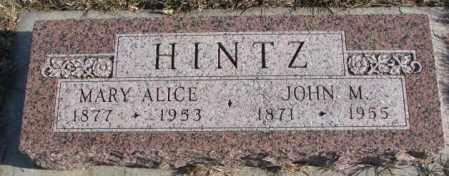 HINTZ, JOHN M. - Cedar County, Nebraska | JOHN M. HINTZ - Nebraska Gravestone Photos