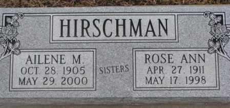 HIRSCHMAN, ROSE ANN - Cedar County, Nebraska | ROSE ANN HIRSCHMAN - Nebraska Gravestone Photos
