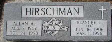 HIRSCHMAN, ALLAN A. - Cedar County, Nebraska | ALLAN A. HIRSCHMAN - Nebraska Gravestone Photos