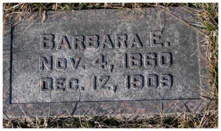HIRSCHMAN, BARBARA E. - Cedar County, Nebraska   BARBARA E. HIRSCHMAN - Nebraska Gravestone Photos
