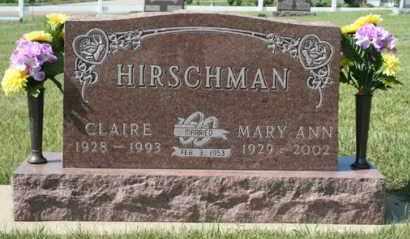 HIRSCHMAN, CLAIRE - Cedar County, Nebraska | CLAIRE HIRSCHMAN - Nebraska Gravestone Photos