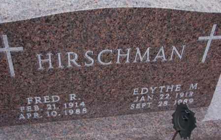 HIRSCHMAN, EDYTHE M. - Cedar County, Nebraska | EDYTHE M. HIRSCHMAN - Nebraska Gravestone Photos