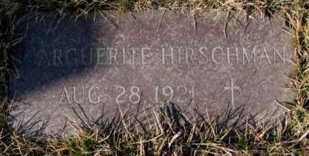 HIRSCHMAN, MARGUERITE - Cedar County, Nebraska | MARGUERITE HIRSCHMAN - Nebraska Gravestone Photos