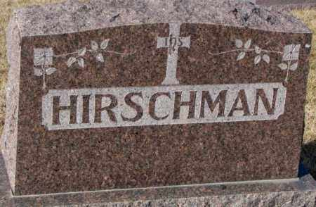 HIRSCHMAN, PLOT - Cedar County, Nebraska | PLOT HIRSCHMAN - Nebraska Gravestone Photos