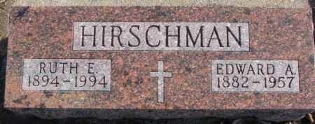 HIRSCHMAN, RUTH E. - Cedar County, Nebraska | RUTH E. HIRSCHMAN - Nebraska Gravestone Photos