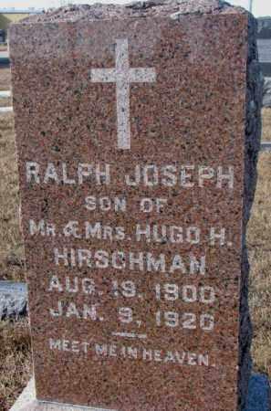 HIRSCHMAN, RALPH JOSEPH - Cedar County, Nebraska | RALPH JOSEPH HIRSCHMAN - Nebraska Gravestone Photos