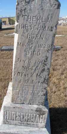 HIRSCHMAN, THEKLA - Cedar County, Nebraska   THEKLA HIRSCHMAN - Nebraska Gravestone Photos