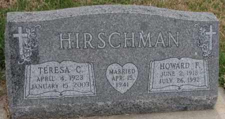 HIRSCHMAN, TERESA C. - Cedar County, Nebraska | TERESA C. HIRSCHMAN - Nebraska Gravestone Photos