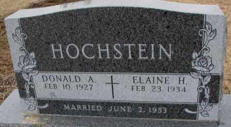 HOCHSTEIN, DONALD A. - Cedar County, Nebraska | DONALD A. HOCHSTEIN - Nebraska Gravestone Photos