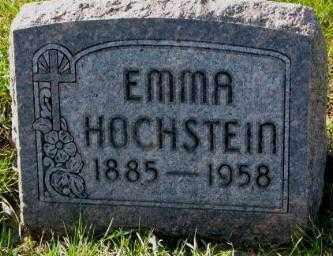 HOCHSTEIN, EMMA - Cedar County, Nebraska   EMMA HOCHSTEIN - Nebraska Gravestone Photos