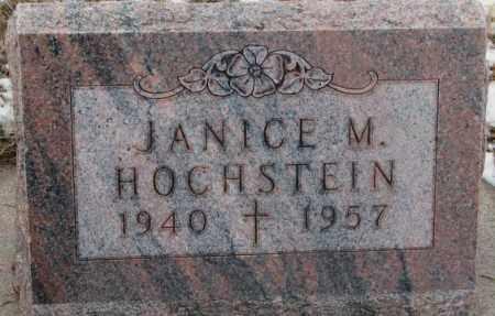 HOCHSTEIN, JANICE M. - Cedar County, Nebraska | JANICE M. HOCHSTEIN - Nebraska Gravestone Photos