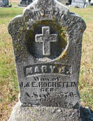 HOCHSTEIN, MARY J. - Cedar County, Nebraska   MARY J. HOCHSTEIN - Nebraska Gravestone Photos