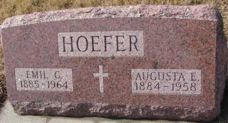HOEFER, EMIL - Cedar County, Nebraska | EMIL HOEFER - Nebraska Gravestone Photos