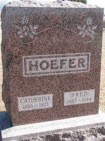 HOEFER, CATHERINE - Cedar County, Nebraska | CATHERINE HOEFER - Nebraska Gravestone Photos