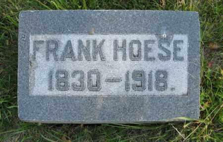 HOESE, FRANK - Cedar County, Nebraska | FRANK HOESE - Nebraska Gravestone Photos