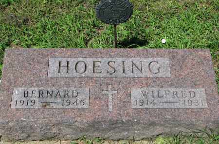 HOESING, WILFRED - Cedar County, Nebraska | WILFRED HOESING - Nebraska Gravestone Photos