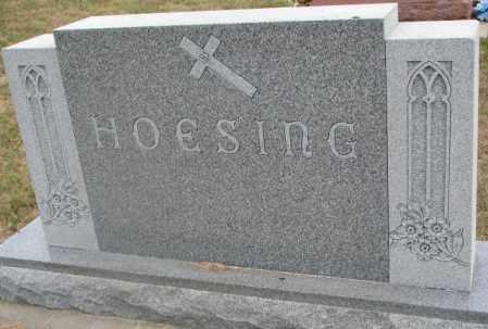 HOESING, FAMILY STONE - Cedar County, Nebraska   FAMILY STONE HOESING - Nebraska Gravestone Photos