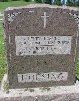 HOESING, HENRY - Cedar County, Nebraska | HENRY HOESING - Nebraska Gravestone Photos