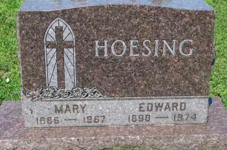 HOESING, EDWARD - Cedar County, Nebraska | EDWARD HOESING - Nebraska Gravestone Photos