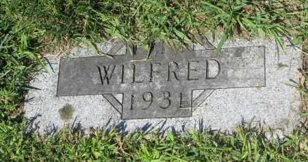HOESING, WILFRED (FOOTSTONE) - Cedar County, Nebraska   WILFRED (FOOTSTONE) HOESING - Nebraska Gravestone Photos