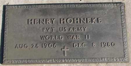 HOHNEKE, HENRY (WW II MARKER) - Cedar County, Nebraska | HENRY (WW II MARKER) HOHNEKE - Nebraska Gravestone Photos