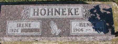 HOHNEKE, HENRY - Cedar County, Nebraska | HENRY HOHNEKE - Nebraska Gravestone Photos
