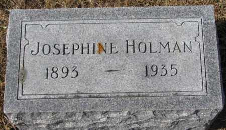 BURNS HOLMAN, JOSEPHINE - Cedar County, Nebraska | JOSEPHINE BURNS HOLMAN - Nebraska Gravestone Photos