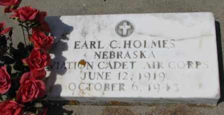 HOLMES, EARL C. - Cedar County, Nebraska   EARL C. HOLMES - Nebraska Gravestone Photos