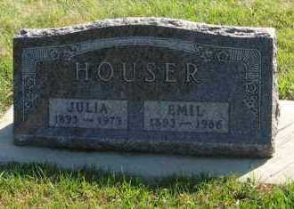 HOUSER, JULIA - Cedar County, Nebraska   JULIA HOUSER - Nebraska Gravestone Photos