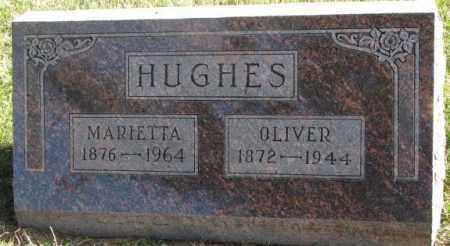 HUGHES, MARIETTA - Cedar County, Nebraska | MARIETTA HUGHES - Nebraska Gravestone Photos