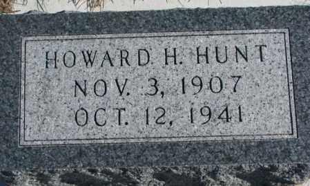 HUNT, HOWARD H. - Cedar County, Nebraska | HOWARD H. HUNT - Nebraska Gravestone Photos