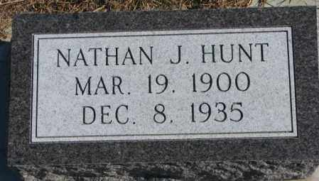 HUNT, NATHAN J. - Cedar County, Nebraska | NATHAN J. HUNT - Nebraska Gravestone Photos