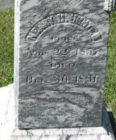 HUNTER, HENRY H. (CLOSEUP) - Cedar County, Nebraska | HENRY H. (CLOSEUP) HUNTER - Nebraska Gravestone Photos