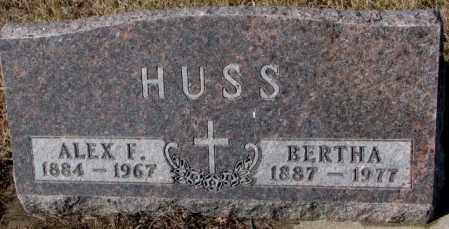 HUSS, ALEX F. - Cedar County, Nebraska | ALEX F. HUSS - Nebraska Gravestone Photos