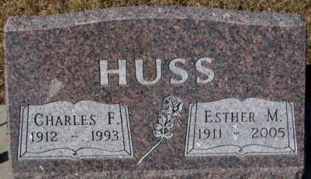 HUSS, ESTHER M. - Cedar County, Nebraska | ESTHER M. HUSS - Nebraska Gravestone Photos