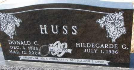 HUSS, DONALD C. - Cedar County, Nebraska | DONALD C. HUSS - Nebraska Gravestone Photos