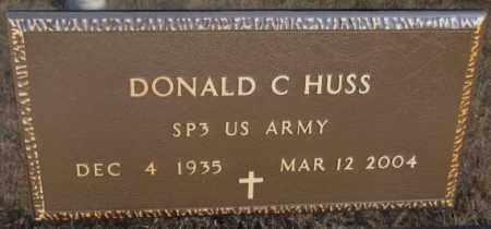 HUSS, DONALD C. (MILITARY) - Cedar County, Nebraska | DONALD C. (MILITARY) HUSS - Nebraska Gravestone Photos