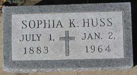 HUSS, SOPHIA K. - Cedar County, Nebraska | SOPHIA K. HUSS - Nebraska Gravestone Photos