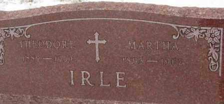 IRLE, MARTHA - Cedar County, Nebraska | MARTHA IRLE - Nebraska Gravestone Photos