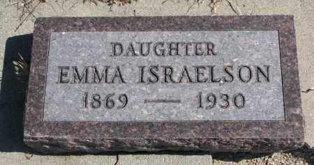 ISRAELSON, EMMA - Cedar County, Nebraska | EMMA ISRAELSON - Nebraska Gravestone Photos