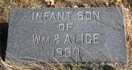 JACOBSEN, INFANT SON - Cedar County, Nebraska | INFANT SON JACOBSEN - Nebraska Gravestone Photos