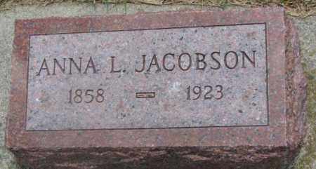 JACOBSON, ANNA L. - Cedar County, Nebraska | ANNA L. JACOBSON - Nebraska Gravestone Photos