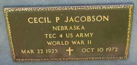 JACOBSON, CECIL P. (WW II) - Cedar County, Nebraska | CECIL P. (WW II) JACOBSON - Nebraska Gravestone Photos