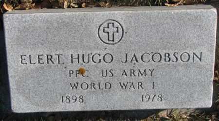 JACOBSON, ELERT HUGO - Cedar County, Nebraska   ELERT HUGO JACOBSON - Nebraska Gravestone Photos