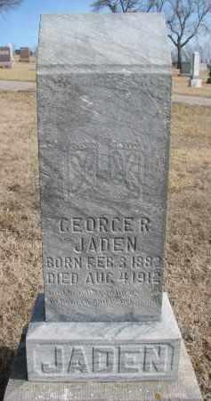 JADEN, GEORGE R. - Cedar County, Nebraska | GEORGE R. JADEN - Nebraska Gravestone Photos