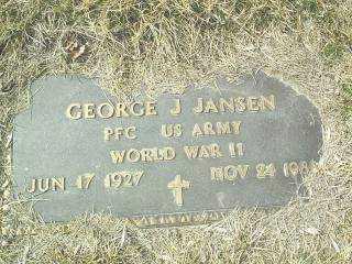 JANSEN, GEORGE - Cedar County, Nebraska | GEORGE JANSEN - Nebraska Gravestone Photos